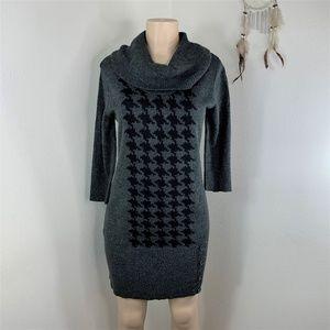 Falls Creek Sweater Gray Black Dress Women's